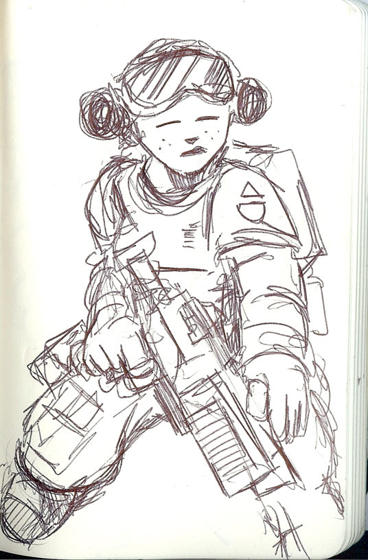 Sketchbook---Gun-Girl