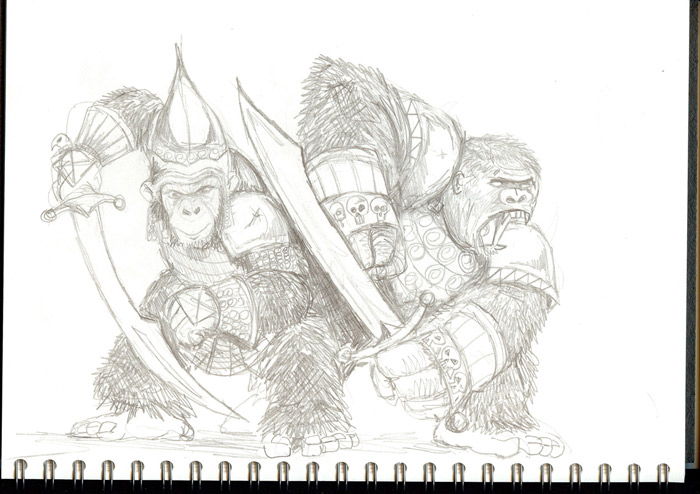 Sketchbook: Battle Apes!