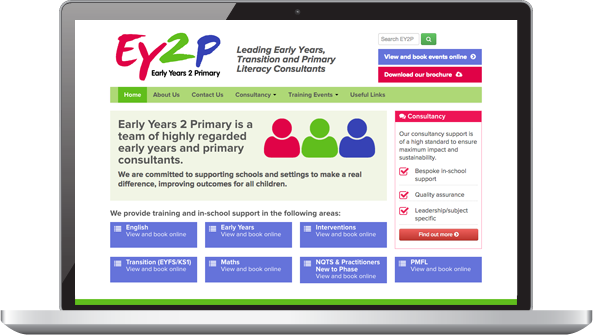 Screenshot: EY2P website home page