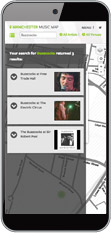 Mobile view of Manchester Music Map
