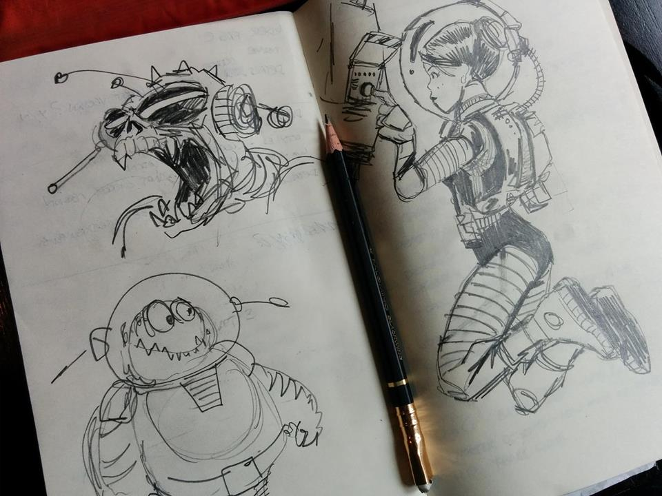 Photo: Pages from one of my sketchbooks.
