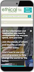 Screenshot: ECRA website on mobile device